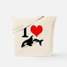 I Heart Whales Tote Bag