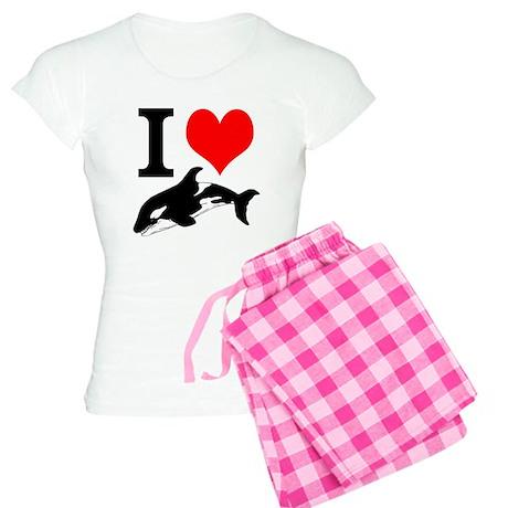 I Heart Whales Women's Light Pajamas