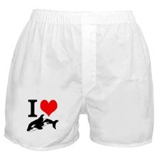 I Heart Whales Boxer Shorts