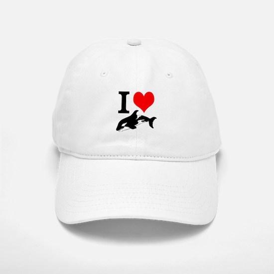 I Heart Whales Baseball Baseball Cap