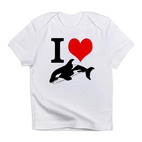 I Heart Whales Infant T-Shirt