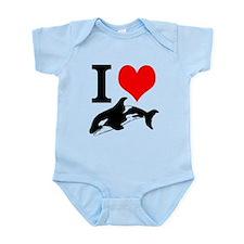 I Heart Whales Infant Bodysuit