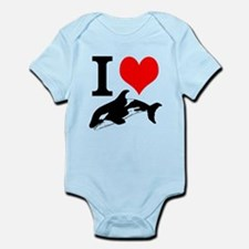 I Heart Whales Infant Bodysuit