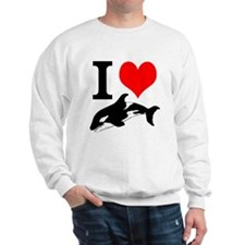 I Heart Whales Sweatshirt