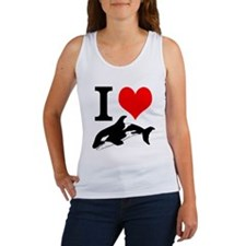 I Heart Whales Women's Tank Top