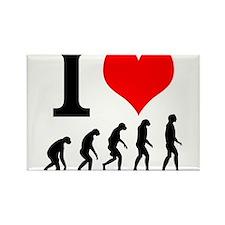 I Heart Evolution Rectangle Magnet