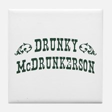 Drunky McDrunkerson Tile Coaster