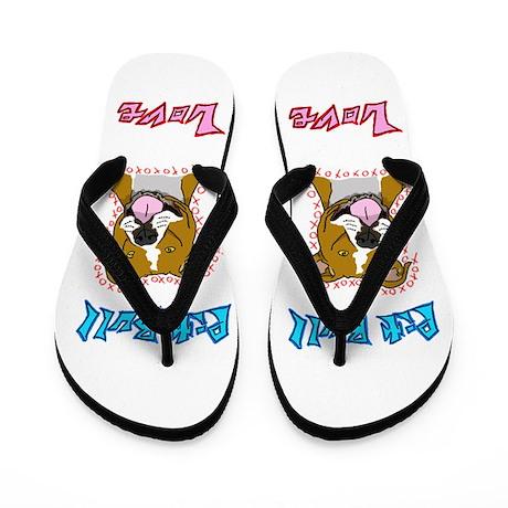 Pit Bull Love Flip Flops