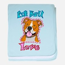 Pit Bull Love baby blanket