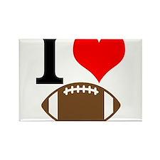 I Heart Football Rectangle Magnet