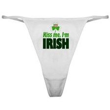 Kiss Me I'm Irish Classic Thong