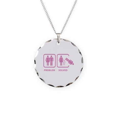 Problem Solved Necklace Circle Charm