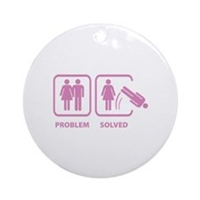 Problem Solved Ornament (Round)