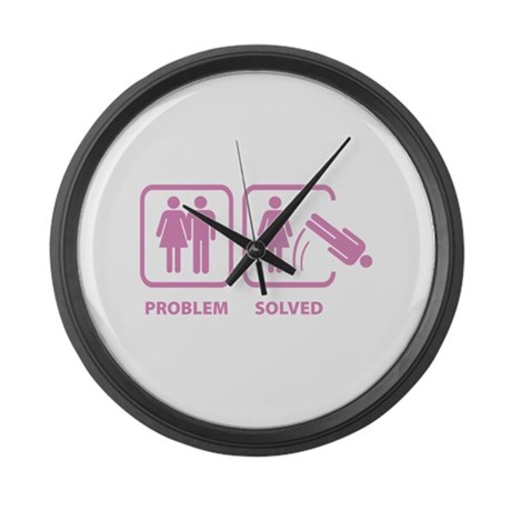 Problem Solved Large Wall Clock