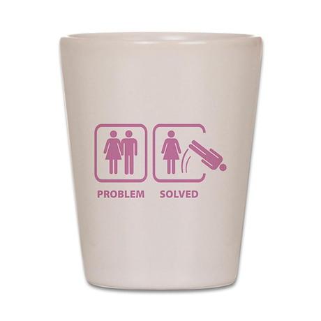 Problem Solved Shot Glass
