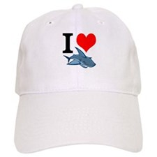 I Heart Sharks Baseball Cap