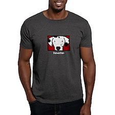 Anime Dalmatian Black T-Shirt