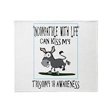 Trisomy 18 awareness 2 Throw Blanket