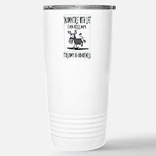 Trisomy 18 awareness 2 Stainless Steel Travel Mug
