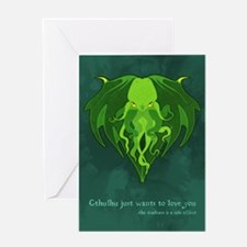 Cthulhu Love Greeting Card