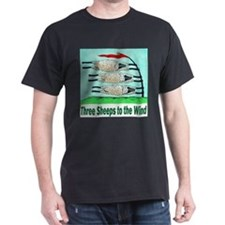 3-Three Sheeps to the Wind T-shirt T-Shirt