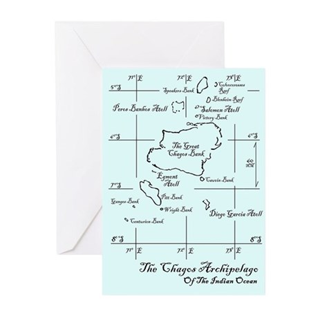Chagos Chart Greeting Cards (Pk of 10)