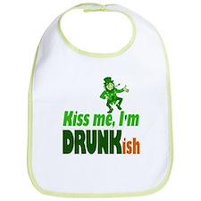 Kiss Me I'm Drunkish Bib