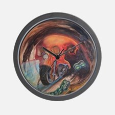 Cute Tattoo skull Wall Clock