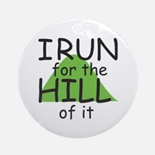 Funny Hill Running Ornament (Round)