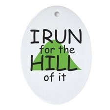 Funny Hill Running Ornament (Oval)