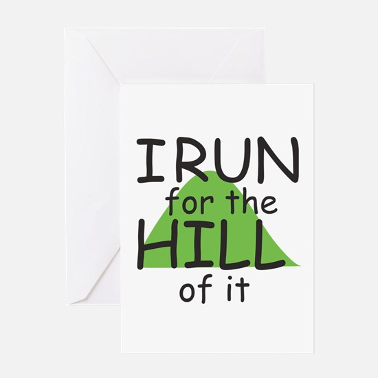 Funny Hill Running Greeting Card
