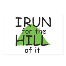 Funny Hill Running Postcards (Package of 8)