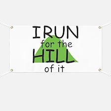 Funny Hill Running Banner