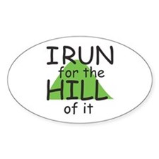 Funny Hill Running Decal
