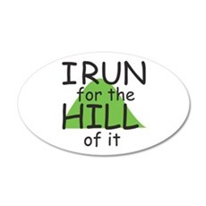 Funny Hill Running Wall Decal