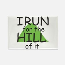 Funny Hill Running Rectangle Magnet (100 pack)