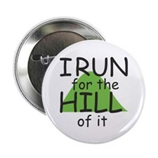 """Funny Hill Running 2.25"""" Button"""