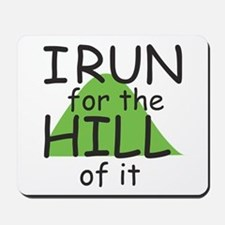 Funny Hill Running Mousepad
