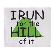 Funny Hill Running Throw Blanket