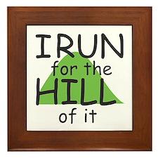 Funny Hill Running Framed Tile