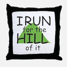 Funny Hill Running Throw Pillow