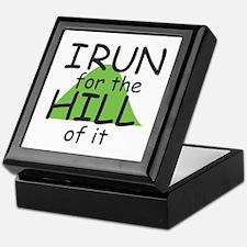 Funny Hill Running Keepsake Box