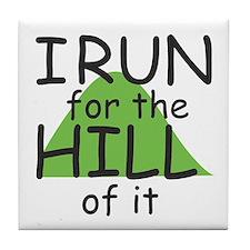 Funny Hill Running Tile Coaster