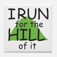 Funny Hill Running Tile Coaster