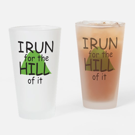 Funny Hill Running Drinking Glass