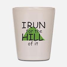 Funny Hill Running Shot Glass