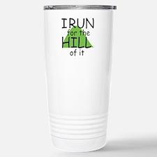 Funny Hill Running Stainless Steel Travel Mug