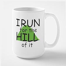 Funny Hill Running Large Mug Mugs