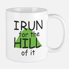 Funny Hill Running Small Small Mug