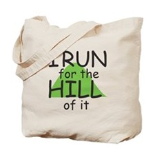 Funny Hill Running Tote Bag